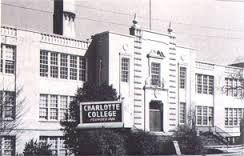 Central High School, early 1950's.  Image courtesy of the Charlotte Mecklenburg Historic Properties Commission via Google Images.