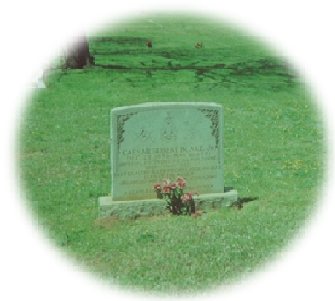 Headstone for Ceasar R. Blake, Jr.  at Pinewood Cemetery.  Photo taken by the author April 2009