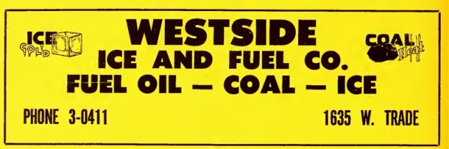 Westside Ice and Fuel Company ad-1953 Directory