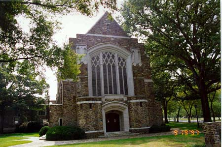 Myers Park UMC.  Picture courtesy of the Charlotte Mecklenburg Historic Properties Commission