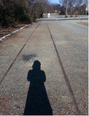 Old Southern Railway Tracks facing 6th Street.  Picture taken by author.