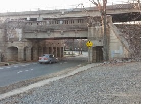 Southern Railway Bridge over 6th Street.  Picture taken by author.