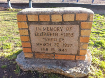 Memorial to Elizabeth Hibbs Wheeler at Myers Park Traditional School.  Photo taken by the author.