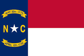 Current NC State Flag.  Image Courtesy of flaglane.com via Google Images.