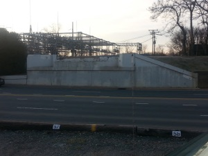 Old P&N Trestle located on South Graham Street near Bank of America Stadium.  Photo taken by the author.