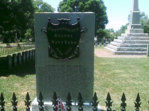 Plaque commemorating the Confederate Navy Yard.  Photo taken by the author.
