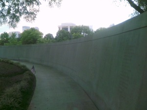Vietnam Memorial Wall.  Photo taken by the author.