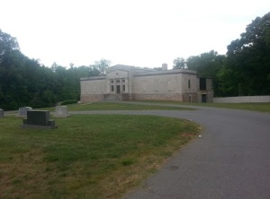 Mausoleum at Forest Lawn West Cemetery and the resting place of Miss. Wheeler.  Picture taken by author.