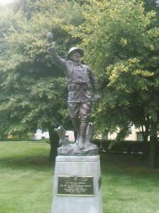 World War I Memorial dedicated in 1923.  Photo taken by the author.